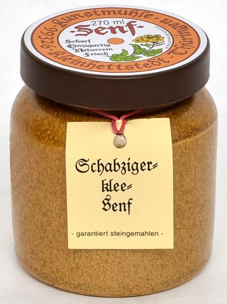 Kleinhettstedt Schabzigerklee Senf 270ml